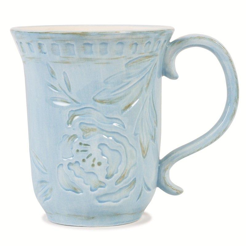 Кружка голубая Тулуза20-495_голубойРазмер изделия: 140х10х120.Без упаковки (в пупырчатой пленке). Американский бренд «Fitz&Floyd» с более, чем полувековой историей - это керамика высокого качества, изысканного дизайна, каждое изделие уникально, поскольку раскрашено вручную.