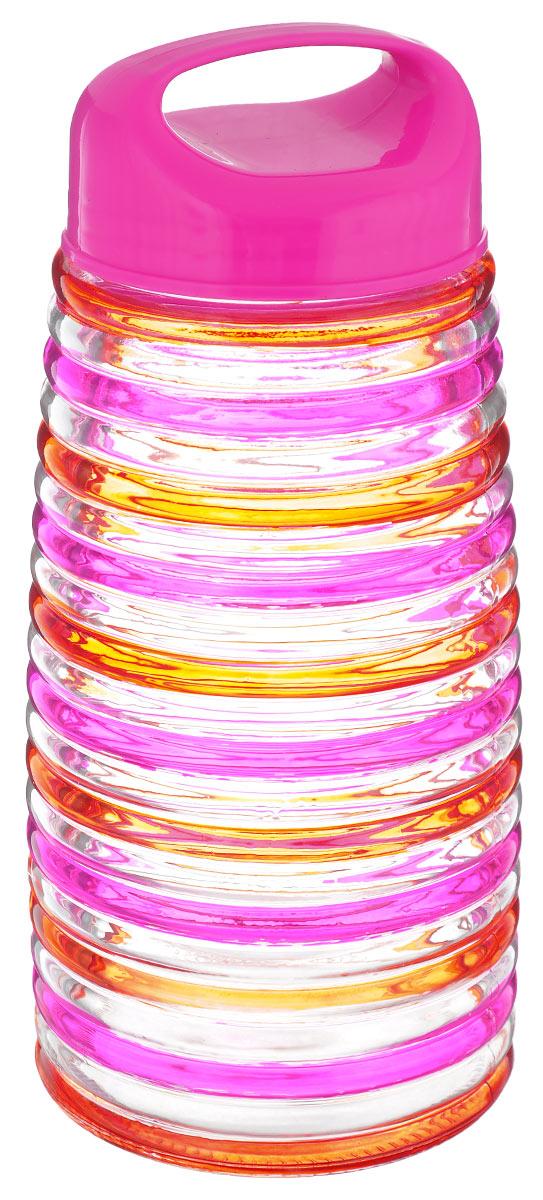 Банка для сыпучих продуктов Bohmann Кольца, цвет: розовый, оранжевый, 2,3 л01347BHGNEWБанка для сыпучих продуктов Bohmann Кольца изготовлена из прочного прозрачного стекла. Емкость снабжена пластиковой крышкой, которая плотно и герметично закрывается, дольше сохраняя аромат и свежесть содержимого. Крышка оснащена удобной ручкой. Банка декорирована рельефным изображением цветных полосок. Изделие предназначено для хранения различных сыпучих продуктов: круп, чая, сахара, орехов и многого другого. Функциональная и вместительная, такая банка станет незаменимым аксессуаром на любой кухне. Диаметр (по верхнему краю): 9 см. Высота (без учета крышки): 23,5 см.