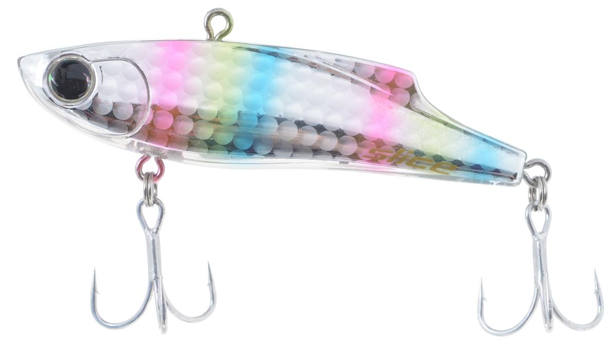 Воблер Maria Slice, тонущий, цвет: серебряный, розовый, голубой 7 см, 15 г41096Раттлин Maria Slice подойдет для ловли щуки, окуня, судака и форели. Отличная приманка для джиговой ловли летом и для зимней рыбалки. Частые колебания приманки прекрасно привлекают хищника с большого расстояния. Воблер выполнен из металла и пластика и оснащен тройниками Owner.