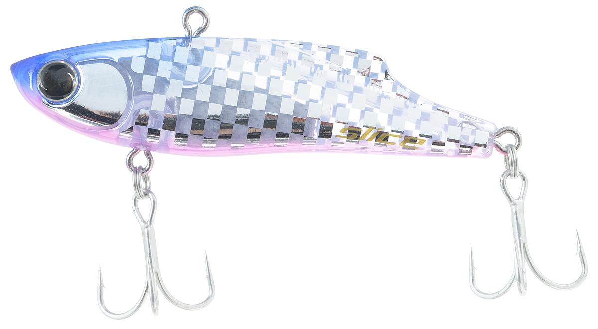 Воблер Maria Slice, тонущий, цвет: синий, прозрачный, 7 см, 15 г43557Раттлин Maria Slice подойдет для ловли щуки, окуня, судака и форели. Отличная приманка для джиговой ловли летом и для зимней рыбалки. Частые колебания приманки прекрасно привлекают хищника с большого расстояния. Воблер выполнен из металла и пластика и оснащен тройниками Owner.