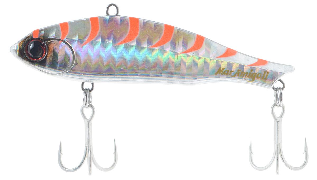 Воблер Maria Mar Amigo II, до дна, цвет: серебряный, оранжевый, 8 см, 23 г49746Воблер типа раттлин Maria Mar Amigo II предназначен для ловли хищных видов рыб. Изделие обладает хорошими полетными качествами и быстрой скоростью погружения. Корпус выполнен из прочного металла и пластика, благодаря чему хищным рыбам сложно сломать воблер. Приманка оснащена двумя тройными крючками.
