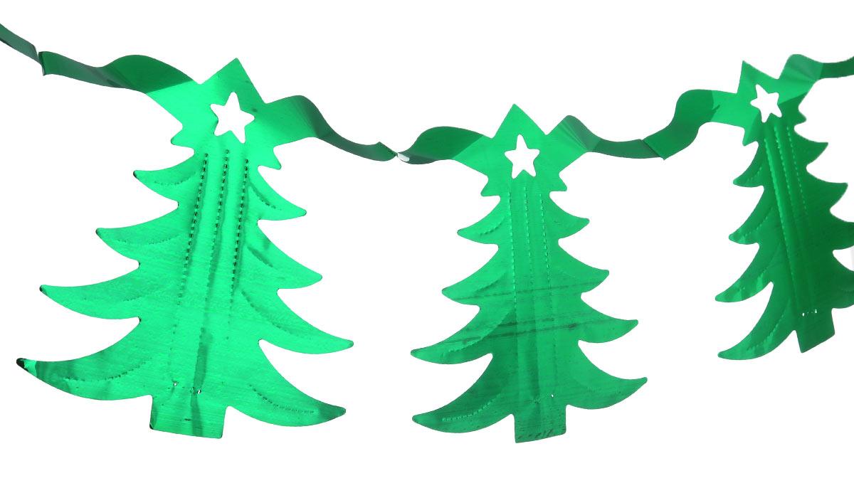 Новогодняя гирлянда Феникс-презент Magic Time, цвет: зеленый, длина 2,5 м38171Новогодняя гирлянда Феникс-презент Magic Time состоит из серии фигурок в виде елочек. Прекрасно подойдет для декора дома или офиса. Украшение, выполненное из ПЭТ (полиэтилентерефталата), легко складывается и раскладывается. Новогодние украшения несут в себе волшебство и красоту праздника. Они помогут вам украсить дом к предстоящим праздникам и оживить интерьер по вашему вкусу. Создайте в доме атмосферу тепла, веселья и радости, украшая его всей семьей. Длина гирлянды: 2,5 м. Размер елочки: 16 см х 15,5 см.