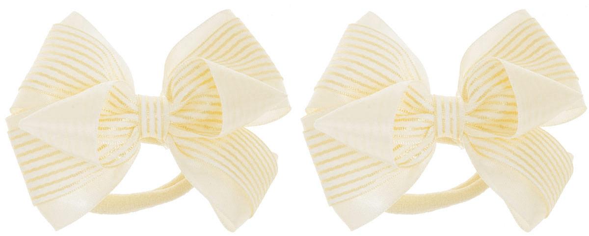 Babys Joy Резинка для волос цвет желтый 2 шт MN 202MN 202_полоска_желтый/полоскаРезинка для волос Babys Joy изготовлена из текстиля и дополнена милым бантиком, сплетенного из двух лент - однотонной из атласа и в полоску. Резинка для волос Babys Joy надежно зафиксирует волосы и подчеркнет красоту прически вашей маленькой модницы. В упаковке: 2 резинки. Рекомендовано для детей старше трех лет.