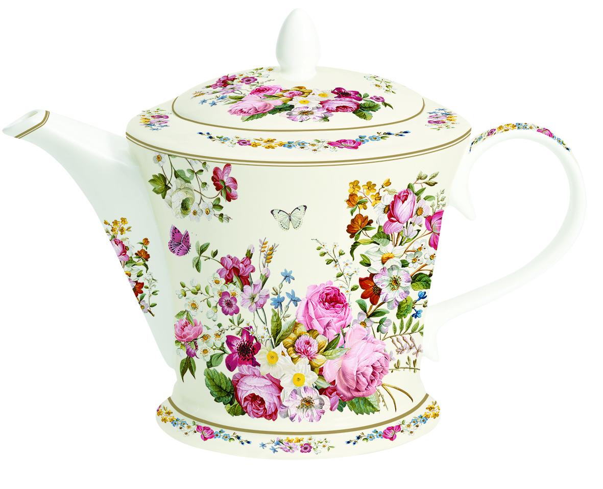 Чайник заварочный Nuova R2S Роскошные цветы, 1 л1350BLOCЗаварочный чайник Nuova R2S Роскошные цветы изготовлен из высококачественного фарфора белого цвета. Изделие оформлено красочным изображением цветов. Чайник оснащен удобной ручкой и крышкой. Элегантный чайник поможет заварить крепкий ароматный чай и великолепно украсит стол к чаепитию. Диаметр (по верхнему краю): 10,5 см. Диаметр основания: 12 см. Высота (с учетом крышки): 18 см.