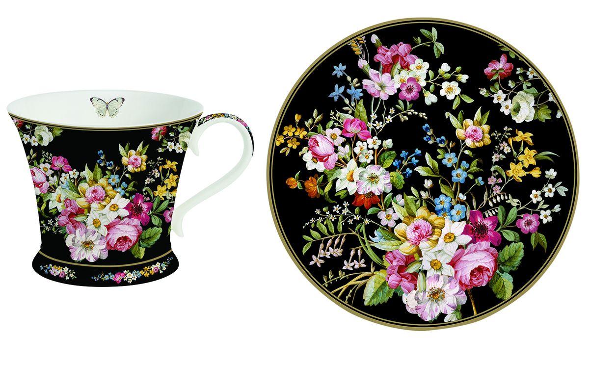 Чашка Nuova R2S Все в цвету, с блюдцем, 300 мл1357BLOBЧашка с блюдцем Nuova R2S Все в цвету изготовлены из высококачественного фарфора и декорированы ярким изображением цветов. Они прекрасно подойдут для вашей кухни и великолепно украсят стол. Изящный дизайн и красочность оформления чашки и блюдца придутся по вкусу и ценителям классики, и тем, кто предпочитает утонченность и изысканность. Объем кружки: 300 мл. Диаметр чашки (по верхнему краю): 11,2 см. Высота чашки: 9,5 см. Диаметр блюдца (по верхнему краю): 17,6 см. Высота блюдца: 2 см.