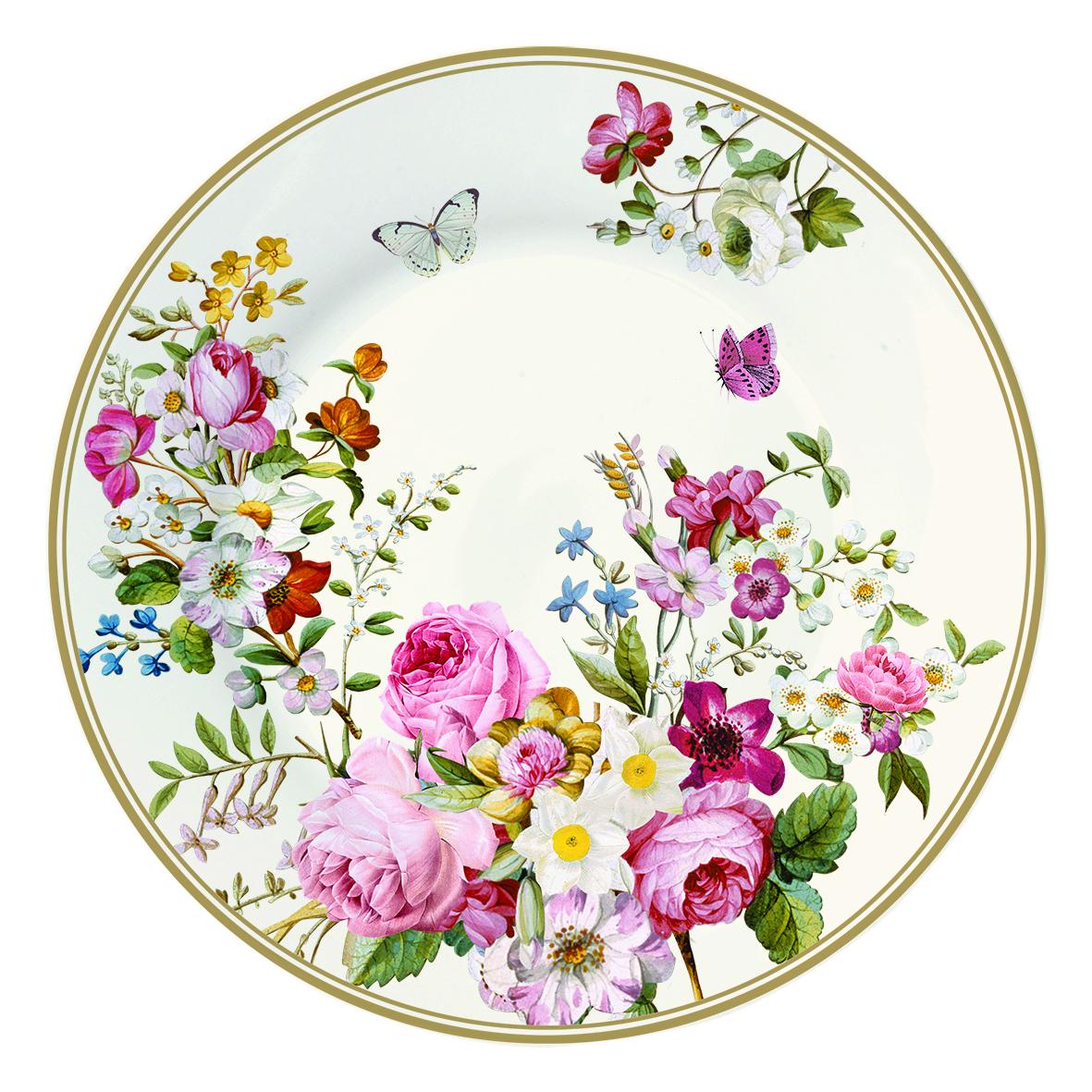 Тарелка десертная Nuova R2S Роскошные цветы, диаметр 19 см1358BLOCТарелка десертная Nuova R2S Роскошные цветы, выполненная из высококачественного фарфора, декорирована ярким изображением цветов. Изящный дизайн придется по вкусу и ценителям классики, и тем, кто предпочитает утонченность. Тарелка десертная Nuova R2S Роскошные цветы идеально подойдет для сервировки стола и станет отличным подарком к любому празднику. Можно использовать в микроволновой печи и мыть в посудомоечных машинах. Диаметр тарелки (по верхнему краю): 19 см.