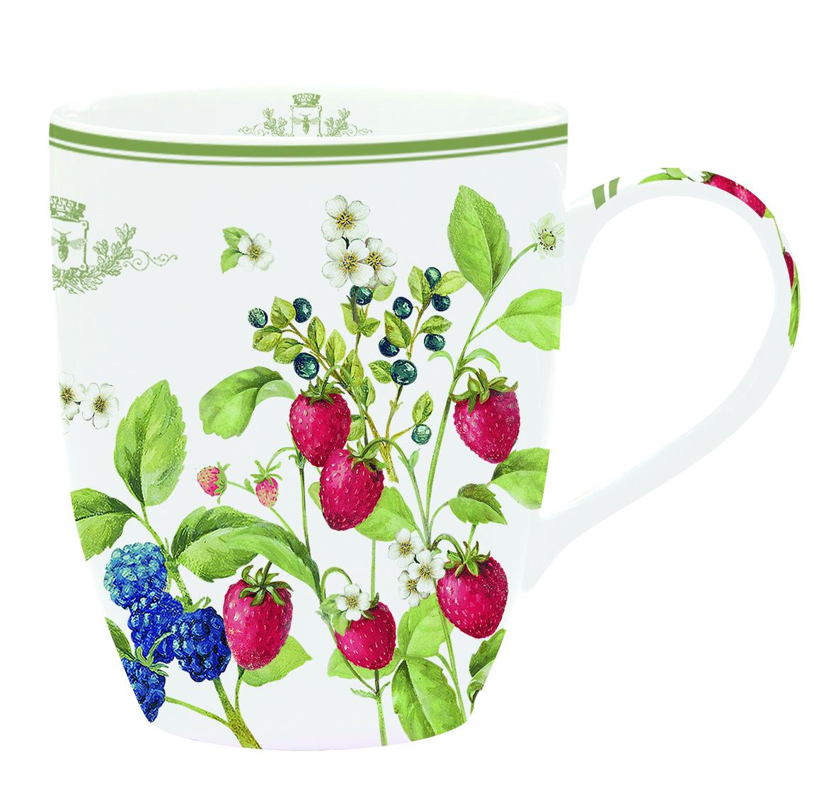 Кружка Nuova R2S Лесные ягоды, 350 мл941BERRКружка Nuova R2S Лесные ягоды изготовлена из высококачественного фарфора и декорирована ярким изображением ягод. Она прекрасно подойдет для вашей кухни и великолепно украсит стол. Изящный дизайн и красочность оформления кружки придутся по вкусу и ценителям классики, и тем, кто предпочитает утонченность и изысканность.