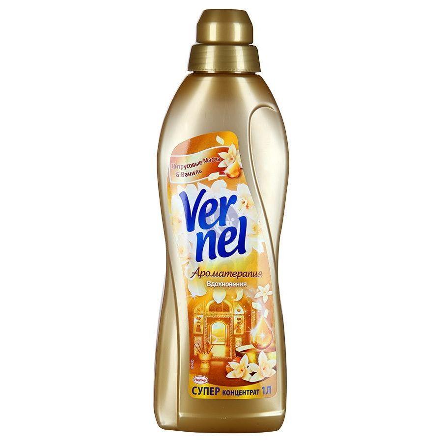 Кондиционер для белья Vernel Цитрусовое масло и ваниль, концентрат, 1 л934947_цитрус_ванильКондиционер для белья Vernel Цитрусовое масло и ваниль подходит для всех видов тканей. Не требует предварительного разбавления водой. Кондиционер придает мягкость, обладает антистатическим эффектом и придает приятный аромат, облегчает глажение. Состав: 5-15% катионные ПАВ; Товар сертифицирован.