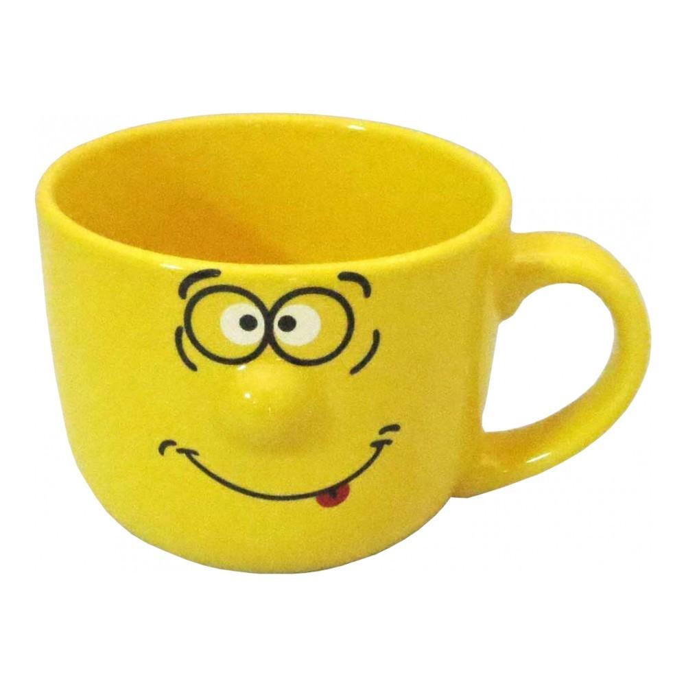 Кружка Walmer Smiley, цвет: желтый, 400 млW06222040Кружка Walmer Smiley выполнена из керамики и оформлена изображением забавного смайлика. Она станет отличным дополнением к сервировке семейного стола и замечательным подарком для ваших родных и друзей. Не рекомендуется применять абразивные моющие средства. Диаметр кружки по верхнему краю: 10 см. Высота кружки: 8 см.