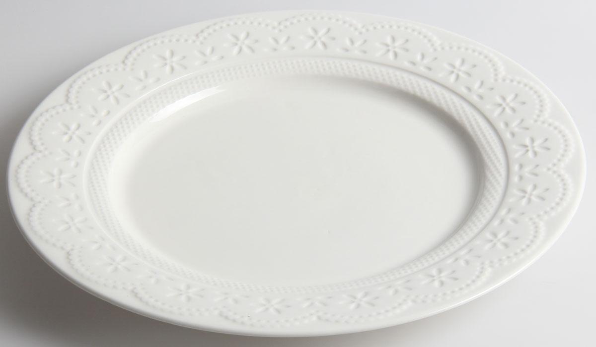 Тарелка десертная Walmer Charlotte, цвет: белый, диаметр 21 см - WalmerW07330021Десертная тарелка Walmer Charlotte выполнена из высококачественного фарфора. Изящный дизайн придется по вкусу и ценителям классики, и тем, кто предпочитает утонченность. Тарелка Walmer Charlotte, идеально подойдет для сервировки стола и станет отличным подарком к любому празднику. Можно использовать в микроволновой печи и мыть в посудомоечных машинах. Диаметр тарелки (по верхнему краю): 21 см.