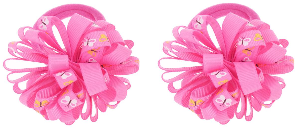 Babys Joy Резинка для волос цвет малиновый 2 шт K 7K 7_малиновыйРезинка для волос Babys Joy выполнена в виде цветка, сшитого из двух разных лент, одной однотонной, и второй, украшенной изображением бабочек. Резинка позволит не только убрать непослушные волосы с лица, но и придать образу немного романтичности и очарования. В упаковке: 2 резинки. Рекомендовано для детей старше трех лет.