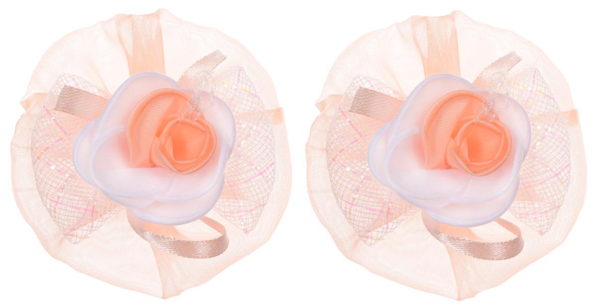 Babys Joy Резинка для волос цвет оранжевый 2 шт AL 970AL 970_оранжевыйРезинка для волос Babys Joy, изготовленная из органзы в виде цветков, дополнена сеточкой в виде бантика и атласной лентой, а в центре оформлена розочками. Резинка для волос Babys Joy надежно зафиксирует волосы и подчеркнет красоту прически вашей маленькой модницы. В упаковке: 2 резинки. Рекомендовано для детей старше трех лет.