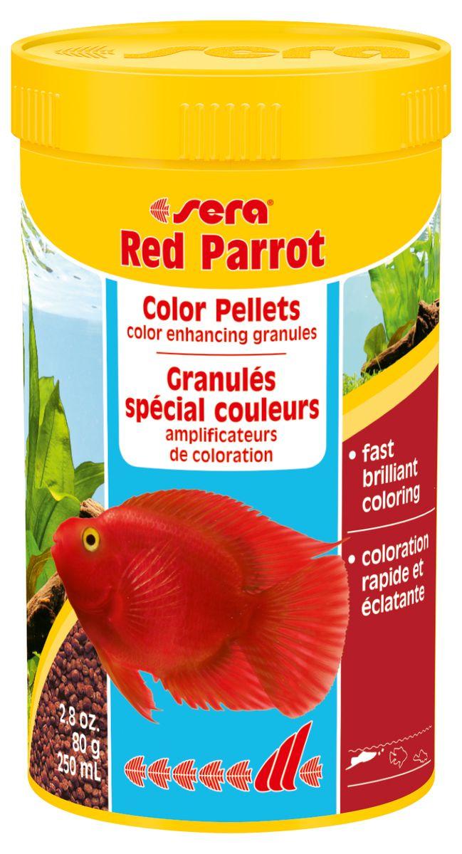 Sera Red Parrot Корм для красных попугаев, гранулы 250мл15979Плавающий гранулированный корм для рыб-попугаев. Натуральные пигменты обеспечивают великолепную яркую окраску.
