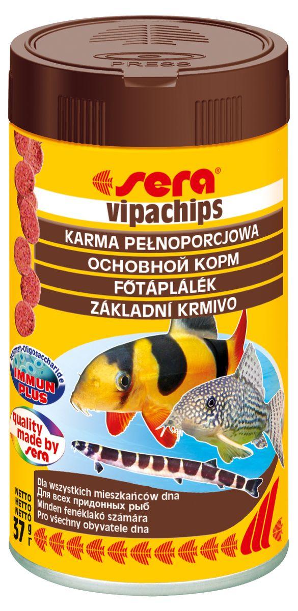 Sera Vipachips Корм для донных рыб, чипсы 100мл15982Основной корм в форме чипсов для всех придонных рыб. Корм в форме чипсов состоит из различных водных живых кормов и быстро погружается. Этот сбалансированный и полезный для здоровья корм, соответствующий естественным потребностям рыб, особенно хорошо подходит для сомиков и боций, но также и для других видов придонных рыб. Чипсы сохраняют свою форму в течение длительного времени и не загрязняют воду.