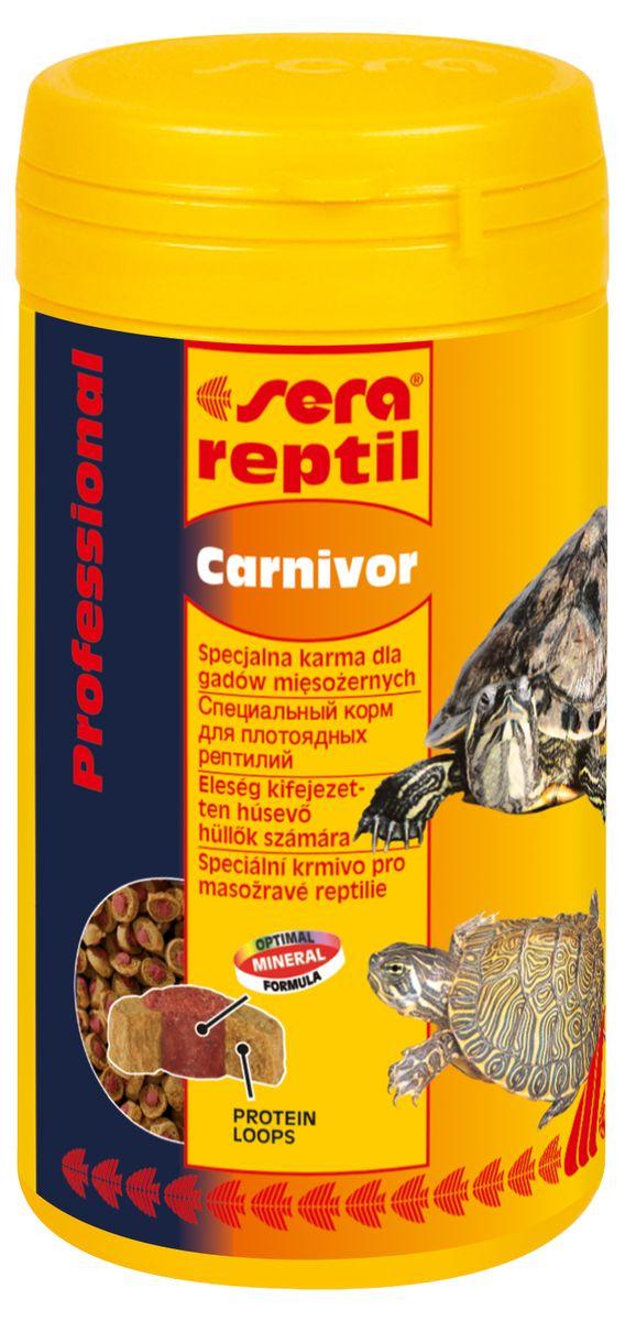 Sera Reptil Professional Carnivor Корм профессиональный для водоплавающих черепах и других плотоядных рептилий, гранулы 250 мл