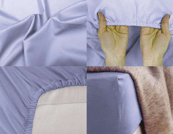 Простыня на резинке Хлопковый Край Premium, цвет: голубой, 208 см х 186 см180с-ПНРПростыня на резинке Хлопковый Край Premium, изготовленная из сатина (100% хлопок), будет превосходно смотреться с любыми комплектами белья. Ткань приятная на ощупь, при этом она прочная, хорошо сохраняет форму и легко гладится. Простыня прошита резинкой, что обеспечивает более комфортный отдых, так как она прочно удерживается на матрасе и избавляет от необходимости часто ее поправлять. Простынь подходит для матраса размером 200 см х 180 см.