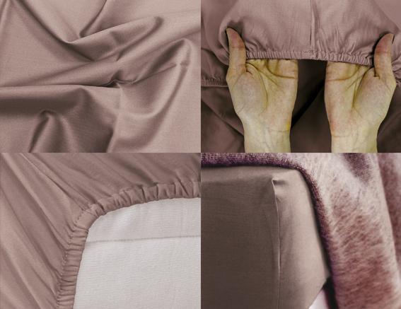 Простыня на резинке Хлопковый Край Premium, цвет: коричневый, 208 х 186 см180с-ПНРПростыня на резинке Хлопковый Край Premium, изготовленная из сатина (100% хлопок), будет превосходно смотреться с любыми комплектами белья. Ткань приятная на ощупь, при этом она прочная, хорошо сохраняет форму и легко гладится. Простыня прошита резинкой, что обеспечивает более комфортный отдых, так как она прочно удерживается на матрасе и избавляет от необходимости часто ее поправлять. Простынь подходит для матраса размером 200 см х 180 см.