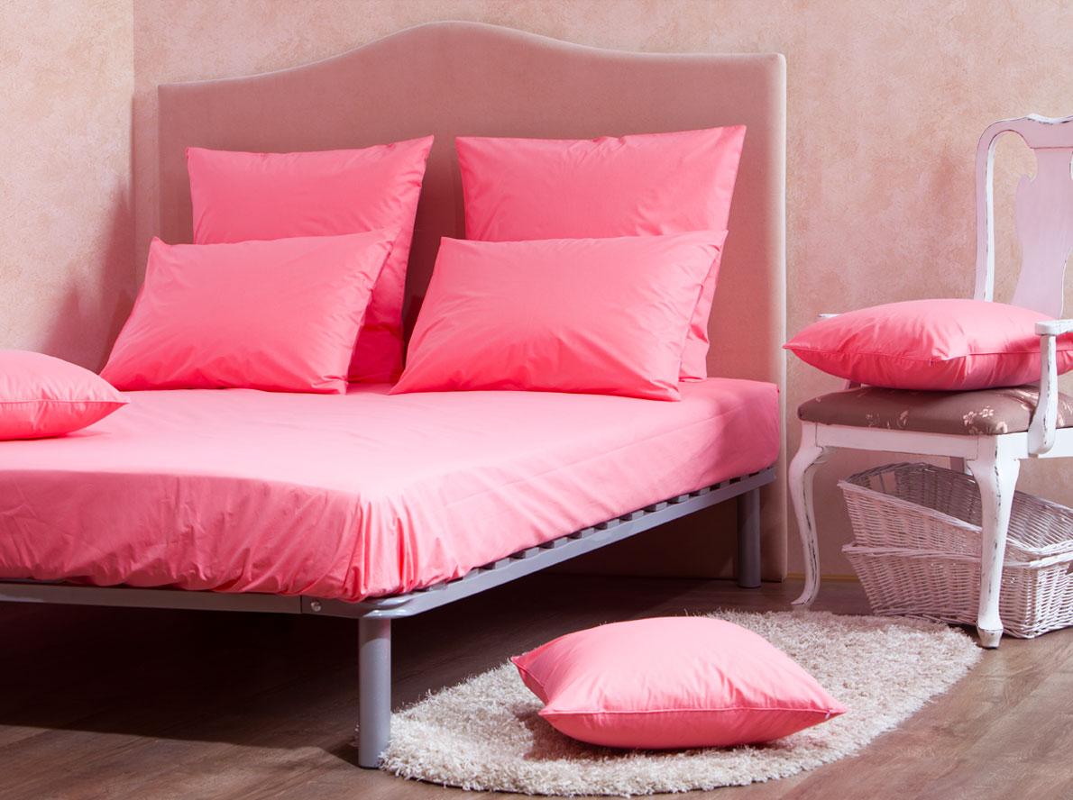Комплект Mirarossi Gamma di Colori, 1,5-спальный: простыня, 2 наволочки 70х70, цвет: коралловый