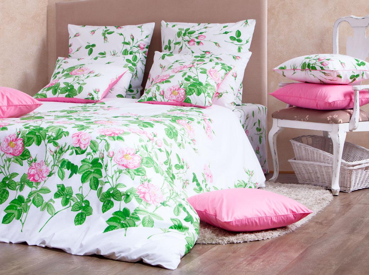 Комплект белья Mirarossi Patrizia, 1,5-спальный, наволочки 70х70, цвет: белый, розовый, зеленый15п-1MRРоскошный комплект постельного белья Mirarossi Patrizia выполнен из ткани перкаль, натурального 100% хлопка. Ткань приятная на ощупь, при этом она прочная, хорошо сохраняет форму и не образует катышков на поверхности. Инновационная технология обработки ткани Easy Care позволяет белью дольше оставаться свежим. Органические активные вещества Easy Care на основе натуральных компонентов, эффективно препятствуют сминаемости и деформации ткани, что позволяет вам практически не тратить время на глажку постельного белья. Комплект состоит из пододеяльника, простыни и двух наволочек. Изделия оформлены цветочным принтом. Благодаря такому комплекту постельного белья вы создадите неповторимую атмосферу в вашей спальне. Плотность ткани: 135 гр/м2.