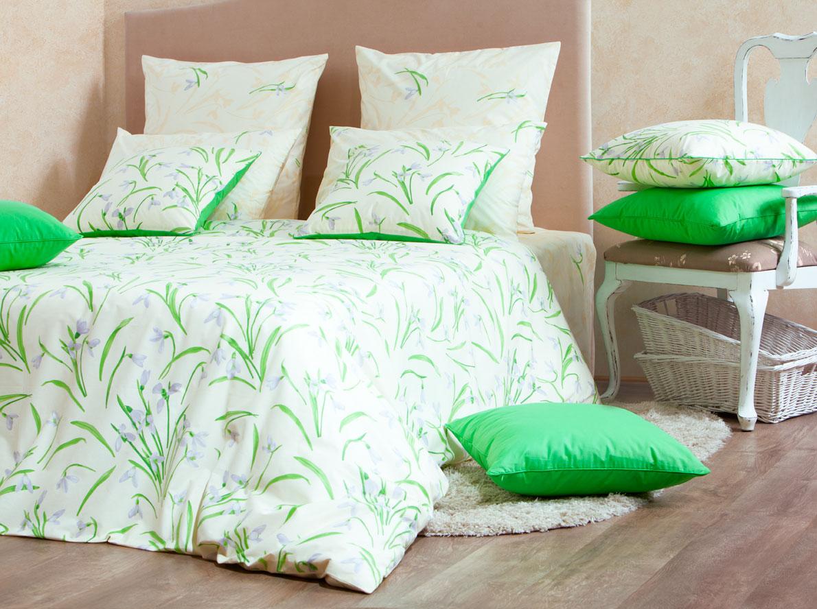 Комплект белья Mirarossi Sofia, 1,5-спальный, наволочки 70х70, цвет: кремовый, зеленый, сиреневый15п-1MRРоскошный комплект постельного белья Mirarossi Sofia изготовлен из перкаля (100% хлопка). Ткань приятная на ощупь, при этом она прочная, хорошо сохраняет форму и легко гладится. Комплект состоит из простыни, пододеяльника и двух наволочек. Перкаль не дает проходить перьям и пуху, что является хорошим свойством для пошива комплектов постельного белья, а из-за своей толщины и износостойкости из этого материала шьются парашюты и паруса. Теплое и нежное постельное белье Mirarossi Sofia создаст неповторимую атмосферу в вашей спальне. Плотность ткани: 135 г/м2.
