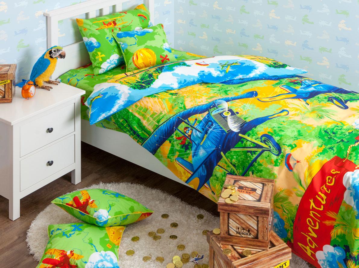 Хлопковый Край Постельное белье (1,5 спальное;Ранфорс;Самолеты)