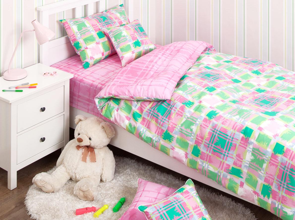 Хлопковый Край Комплект детского постельного белья Geometry Pink 1,5-спальный наволочка 70 см х 70 см