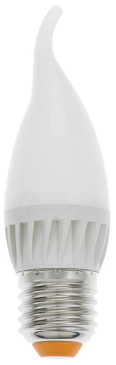 Лампа светодиодная Космос, CW, теплый свет, цоколь E27, 5WLksm_LED5wCWE2730Светодиодная лампа Космос отличается низким энергопотреблением. Срок службы лампы 30000 часов, это в 30 раз дольше, чем у лампы накаливания. Лампа устойчива к вибрациям и высоким перепадам температур. Обладает высокой механической прочностью и вибростойкостью. Характеризуется отсутствием ультрафиолетового и инфракрасного излучений. Эквивалентна лампе накаливания мощностью 60 Вт. Светит рассеянным светом как обычная лампа. Подходит для всех светильников. Номинальное напряжение: 220-240 В. Номинальная частота: 50/60 Гц. Рабочий ток: 0,043 А. Угол рассеивания: 270°. Срок службы: 30 000 ч. Стабильная работа при температуре: от 40°С до +50°С.