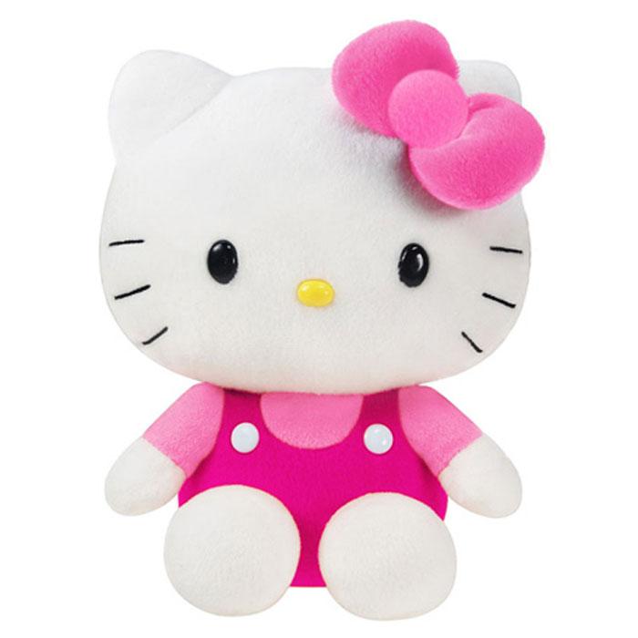 Фигурка интерактивная Hello Kitty 25 см цвет бантика розовыйHKPE13Очаровательная кошечка «Хелло Китти» полюбилась детям всего мира по серии одноименных японских мультфильмов. Очень скоро после выхода мультфильма, образ белой кошечки с бантиком стал очень узнаваемым и популярным в массовой культуре. Не только дети, но и взрослые любят кошечку Hello Kitty за ее милый вид. У кошечки пластиковые глазки, несъемная, качественно проработанная одежда. Кошечка в комбинезоне станет приятным сюрпризом как для малыша, так и для взрослого.