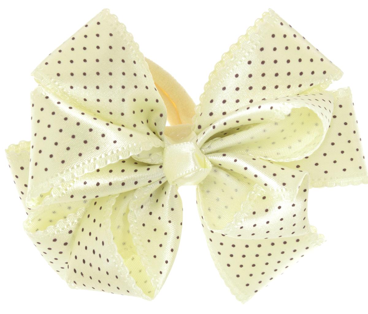 Babys Joy Резинка для волос цвет желтый черный MN 192MN 192_желтый/черный горошекРезинка для волос Babys Joy, изготовленная из текстиля, дополнена милым бантом из атласа в форме цветка и оформлена по верху декоративным принтом в виде мелкого горошка. Резинка для волос Babys Joy надежно зафиксирует волосы и подчеркнет красоту прически вашей маленькой принцессы. Рекомендовано для детей старше трех лет.