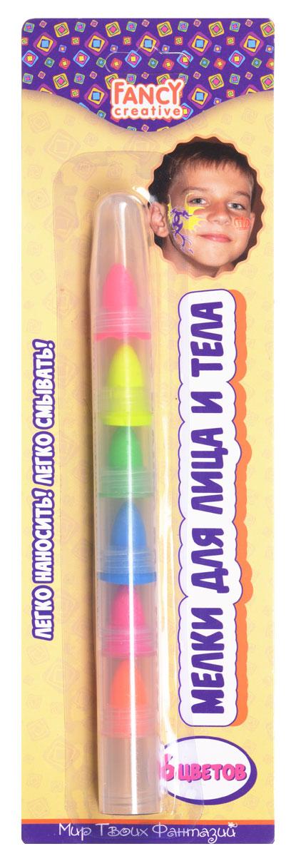 Action! Набор мелков для лица и тела FancyFD020203Набор мелков для лица и тела Fancy непременно понравится вашему малышу и станет для него любимым развлечением в кругу друзей. В набор входят шесть ярких неоновых цветов (розовый, желтый, зеленый, синий, малиновый, оранжевый). Мелки располагаются друг над другом и легко меняются. Они легко наносятся и смываются. Мелки помогут украсить лицо и тело различными рисунками, идеально подойдут для грима на новогодний утренник, карнавал или любой другой детский праздник. Порадуйте вашего ребенка таким замечательным подарком!