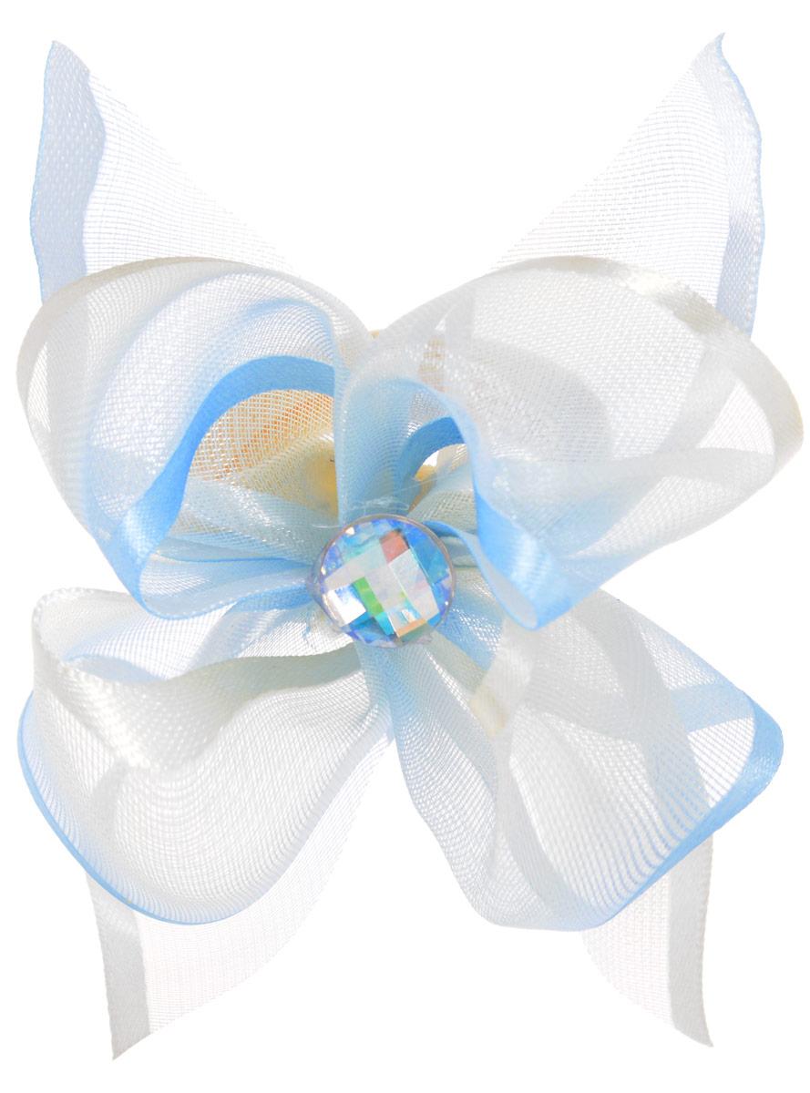 Babys Joy Резинка для волос цвет голубой кремовый 2 шт MN 203/2MN 203/2_голубо-желтый/стразаРезинка для волос Babys Joy выполнена в виде цветка из текстиля и органзы украшена в центральной части стразом. Резинка для волос Babys Joy надежно зафиксирует волосы и подчеркнет красоту прически вашей маленькой модницы. В упаковке: 2 резинки. Рекомендовано для детей старше трех лет.
