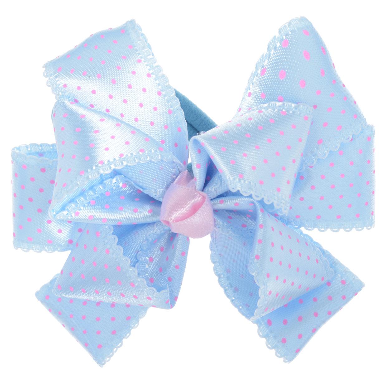 Babys Joy Резинка для волос цвет голубой розовый MN 192MN 192_голубой/розовый горошекРезинка для волос Babys Joy, изготовленная из текстиля, дополнена милым бантом из атласа в форме цветка и оформлена по верху декоративным принтом в виде мелкого горошка. Резинка для волос Babys Joy надежно зафиксирует волосы и подчеркнет красоту прически вашей маленькой принцессы. Рекомендовано для детей старше трех лет.