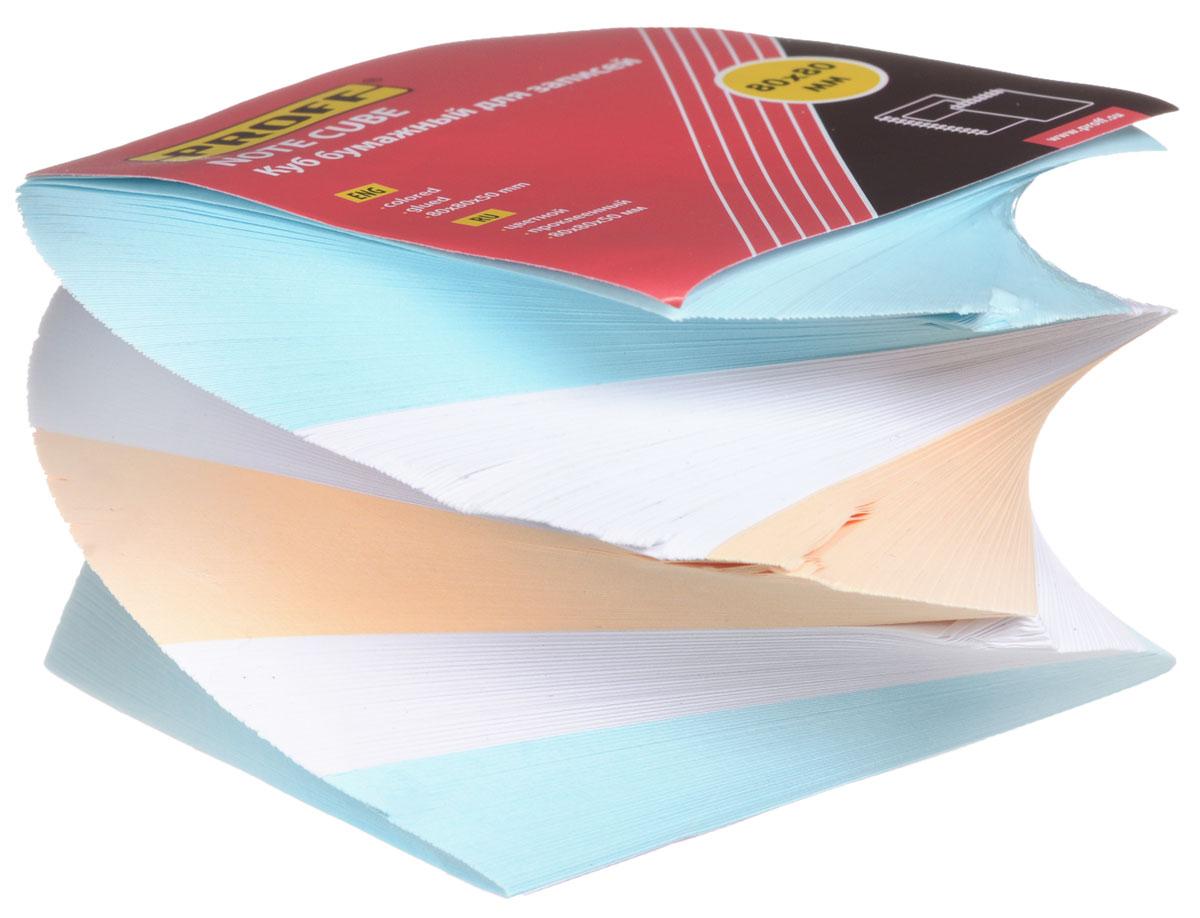 Proff Блок для записей цвет оранжевый голубой белыйМ103цв PFПроклеенный блок для записей Proff - практичное решение для оперативной записи информации в офисе или дома. Блок состоит из листов разноцветной бумаги, что помогает лучше ориентироваться во множестве повседневных заметок. А яркий блок-кубик на вашем рабочем столе поднимет настроение вам и вашим коллегам!