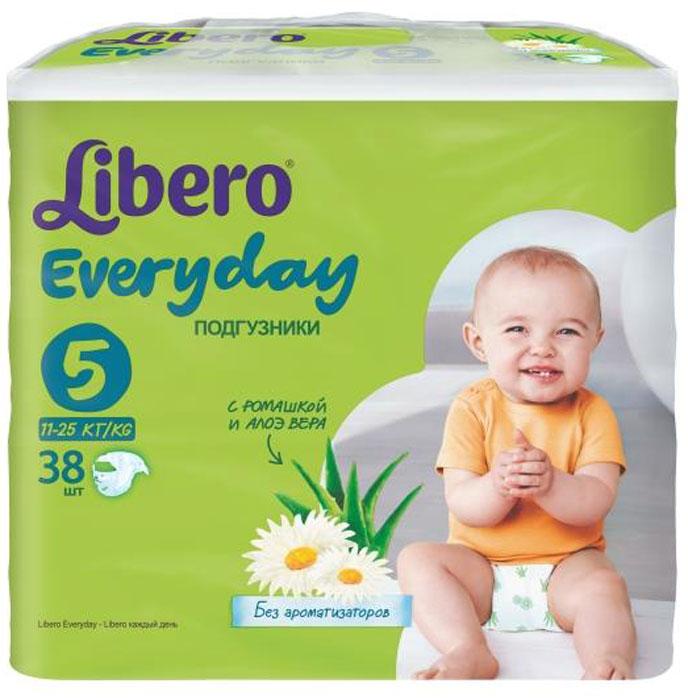 Libero Подгузники Everyday (11-25 кг) 38 шт5374Подгузники Libero Every Day с натуральным экстрактом ромашки заботятся о коже вашего крохи, оставляя ее сухой и здоровой. Натуральные компоненты ромашки не вызывают аллергии и оказывают смягчающее действие. Подгузники Libero Every Day создают комфортные условия для кожи малыша, поэтому их можно использовать во время длительных прогулок днем и ночью, чтобы обеспечить и ребенку и себе спокойный сон. Также у подгузников есть многоразовые застежки-липучки, которые не боятся ни крема, ни талька. Кроме того, подгузники Libero Every Day сделаны из нетканого материала с микроотверстиями для циркуляции воздуха, который позволяет коже малыша дышать. А превосходно впитывающий слой быстро впитывает жидкость и удерживает ее внутри, оставляя поверхность сухой. Эластичный поясок вокруг талии не стесняет движений ребенка и обеспечивает ему комфорт, а барьерчики по бокам и мягкие резиночки анатомической формы вокруг ножек надежно защищают от протеканий. Подгузники Libero Every Day позволяют...