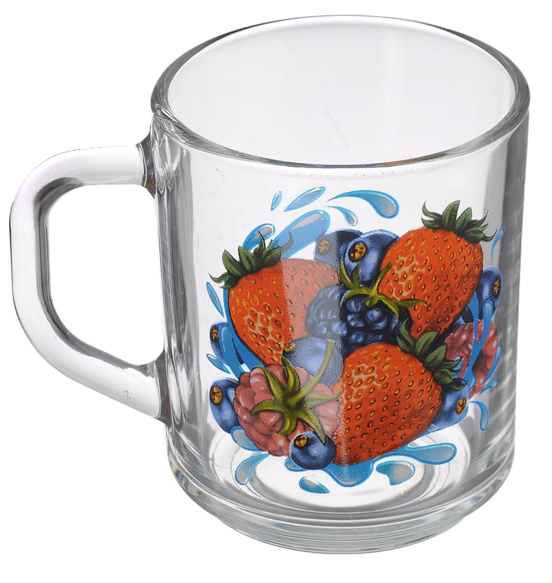 Кружка OSZ Green Tea ягоды, цвет: прозрачный, 200 мл07С1335 ДЗ ЯМККружка OSZ Green Tea ягоды изготовлена из бесцветного стекла и украшена ярким рисунком. Идеально подходит для сервировки стола. Кружка не только украсит ваш кухонный стол, но подчеркнет прекрасный вкус хозяйки. Диаметр кружки (по верхнему краю): 7,5 см. Диаметр основания: 6,5 см. Ширина кружки с учетом ручки: 10,5 см. Высота кружки: 9 см. Объем кружки: 200 мл.