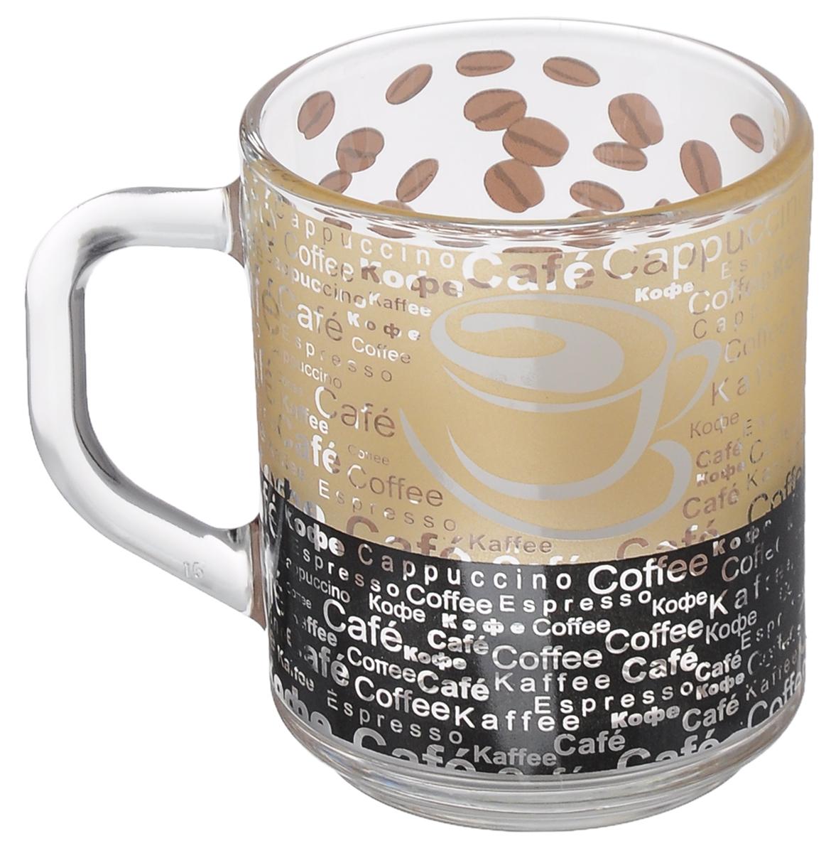 """Кружка OSZ """"Green Tea кофе"""", цвет: прозрачный, 200 мл"""
