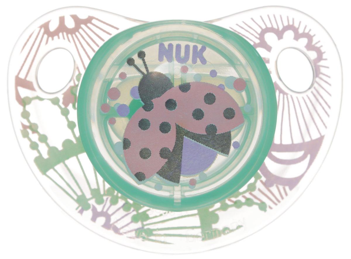 NUK Пустышка ортодонтическая для сна Trendline Adore от 18 до 36 месяцев цвет зеленый