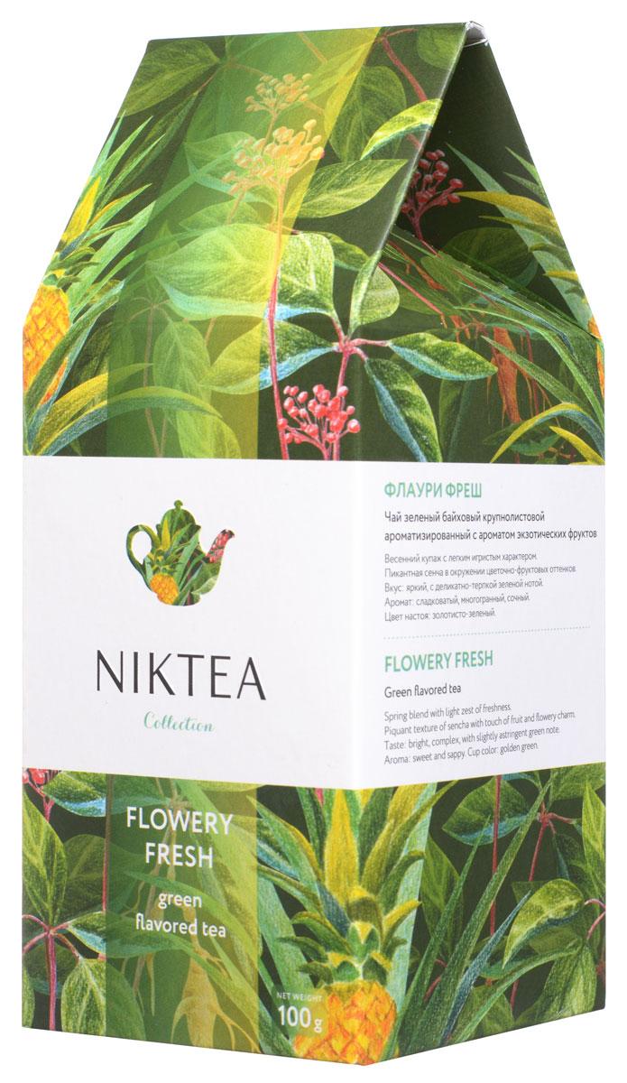 Niktea Flowery Fresh зеленый листовой чай, 100 гTALTHA-L00005Niktea Flowery Fresh - весенний купаж с легким игристым характером. Пикантная сенча в окружении цветочно-фруктовых оттенков - сладких, сочных, с деликатно-терпким послевкусием. Коллекция NikTea разработана командой экспертов, имеющих богатый опыт в чайной индустрии. Во время ее создания выбирались самые надежные поставщики из Европы и стран происхождения чая, а в линейку включили не только топовые аутентичные позиции, но и новые интересные рецептуры в традициях современной чайной миксологии. NikTea - это действительно качественный чай. Для истинных ценителей мы предлагаем безупречное качество: отборное сырье, фасовку на высокотехнологичном производственном комплексе в России, постоянный педантичный контроль готового продукта, а также сертификацию сырья по международным стандартам. NikTea - это разнообразие. В линейках листового и пакетированного чая представлены все основные группы вкусов - от классического черного и зеленого чая до...