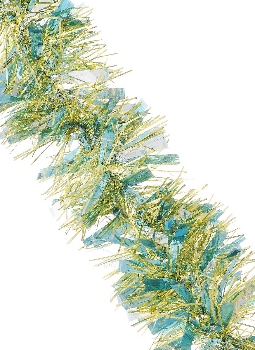 Мишура новогодняя Sima-land, цвет: серебристый, золотистый, голубой, диаметр 9 см, длина 200 см. 702581702581_голубой, золотистыйМишура новогодняя Sima-land, выполненная из фольги, поможет вам украсить свой дом к предстоящим праздникам. Мишура армирована, то есть имеет проволоку внутри и способна сохранять приданную ей форму. Новогодней мишурой можно украсить все, что угодно - елку, квартиру, дачу, офис - как внутри, так и снаружи. Можно сложить новогодние поздравления, буквы и цифры, мишурой можно украсить и дополнить гирлянды, можно выделить дверные колонны, оплести дверные проемы. Коллекция декоративных украшений из серии Зимнее волшебство принесет в ваш дом ни с чем несравнимое ощущение праздника! Создайте в своем доме атмосферу тепла, веселья и радости, украшая его всей семьей.