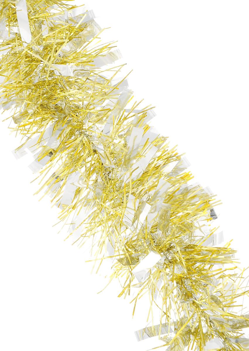 Мишура новогодняя Sima-land, цвет: серебристый, золотистый, диаметр 9 см, длина 200 см. 702581702581_золотистыйМишура новогодняя Sima-land, выполненная из фольги, поможет вам украсить свой дом к предстоящим праздникам. Мишура армирована, то есть имеет проволоку внутри и способна сохранять приданную ей форму. Новогодней мишурой можно украсить все, что угодно - елку, квартиру, дачу, офис - как внутри, так и снаружи. Можно сложить новогодние поздравления, буквы и цифры, мишурой можно украсить и дополнить гирлянды, можно выделить дверные колонны, оплести дверные проемы. Коллекция декоративных украшений из серии Зимнее волшебство принесет в ваш дом ни с чем несравнимое ощущение праздника! Создайте в своем доме атмосферу тепла, веселья и радости, украшая его всей семьей.