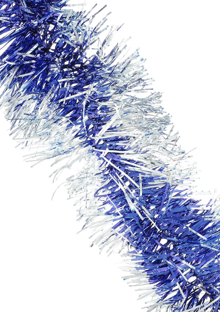 Мишура новогодняя Sima-land, цвет: синий, серебристый, диаметр 11 см, длина 200 см. 733849733849_синий, серебристыйМишура новогодняя Sima-land, выполненная из двухцветной фольги, поможет вам украсить свой дом к предстоящим праздникам. Мишура армирована, то есть имеет проволоку внутри и способна сохранять приданную ей форму. Новогодней мишурой можно украсить все, что угодно - елку, квартиру, дачу, офис - как внутри, так и снаружи. Можно сложить новогодние поздравления, буквы и цифры, мишурой можно украсить и дополнить гирлянды, можно выделить дверные колонны, оплести дверные проемы. Коллекция декоративных украшений из серии Зимнее волшебство принесет в ваш дом ни с чем несравнимое ощущение праздника! Создайте в своем доме атмосферу тепла, веселья и радости, украшая его всей семьей.