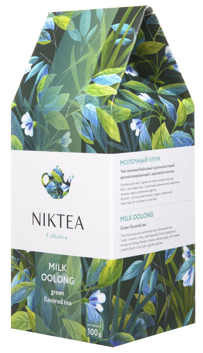 Niktea Milk Oolong зеленый листовой чай, 100 гTALTHA-L00003Niktea Milk Oolong - полуферментированный чай с одним из самых модных и необычных вкусов - шелковистым сладко-сливочным букетом с нюансами зелени, меда и утренних цветов. Коллекция NikTea разработана командой экспертов, имеющих богатый опыт в чайной индустрии. Во время ее создания выбирались самые надежные поставщики из Европы и стран происхождения чая, а в линейку включили не только топовые аутентичные позиции, но и новые интересные рецептуры в традициях современной чайной миксологии. NikTea - это действительно качественный чай. Для истинных ценителей мы предлагаем безупречное качество: отборное сырье, фасовку на высокотехнологичном производственном комплексе в России, постоянный педантичный контроль готового продукта, а также сертификацию сырья по международным стандартам. NikTea - это разнообразие. В линейках листового и пакетированного чая представлены все основные группы вкусов - от классического черного и зеленого чая до...