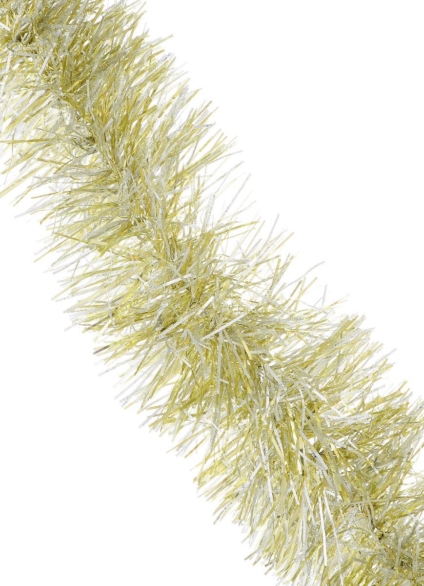 Мишура новогодняя Sima-land, цвет: серебристый, золотистый, диаметр 10 см, длина 200 см. 702586702586_серебристый, желтыйМишура новогодняя Sima-land, выполненная из двухцветной фольги, поможет вам украсить свой дом к предстоящим праздникам. Мишура армирована, то есть имеет проволоку внутри и способна сохранять приданную ей форму. Новогодняя елка с таким украшением станет еще наряднее. Новогодней мишурой можно украсить все, что угодно - елку, квартиру, дачу, офис - как внутри, так и снаружи. Можно сложить новогодние поздравления, буквы и цифры, мишурой можно украсить и дополнить гирлянды, можно выделить дверные колонны, оплести дверные проемы. Коллекция декоративных украшений из серии Зимнее волшебство принесет в ваш дом ни с чем несравнимое ощущение праздника! Создайте в своем доме атмосферу тепла, веселья и радости, украшая его всей семьей.