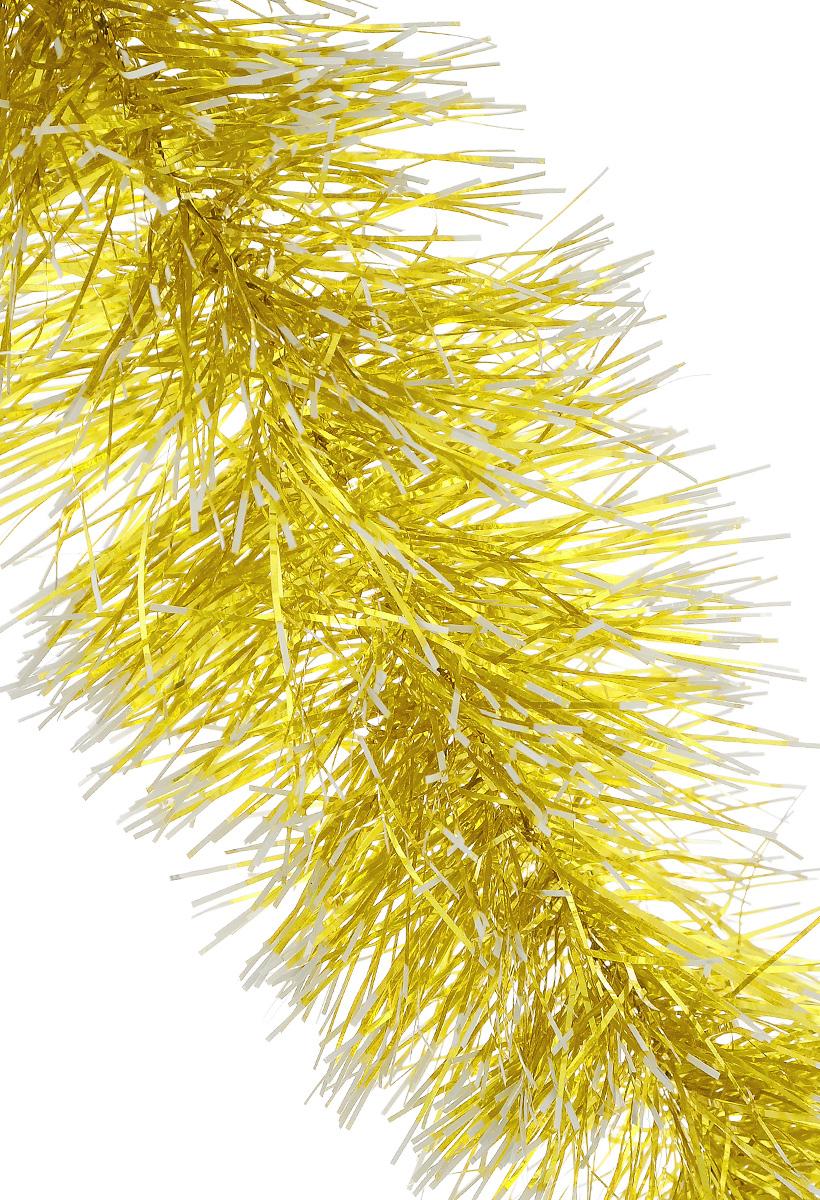 Мишура новогодняя Sima-land, цвет: серебристый, золотистый, диаметр 9 см, длина 170 см. 272175272175_серебристый, желтыйПушистая новогодняя мишура Sima-land, выполненная из двухцветной фольги, поможет вам украсить свой дом к предстоящим праздникам. А новогодняя елка с таким украшением станет еще наряднее. Мишура армирована, то есть имеет проволоку внутри и способна сохранять придаваемую ей форму. Новогодней мишурой можно украсить все, что угодно - елку, квартиру, дачу, офис - как внутри, таки снаружи. Можно сложить новогодние поздравления, буквы и цифры, мишурой можно украсить и дополнить гирлянды, можно выделить дверные колонны, оплести дверные проемы.