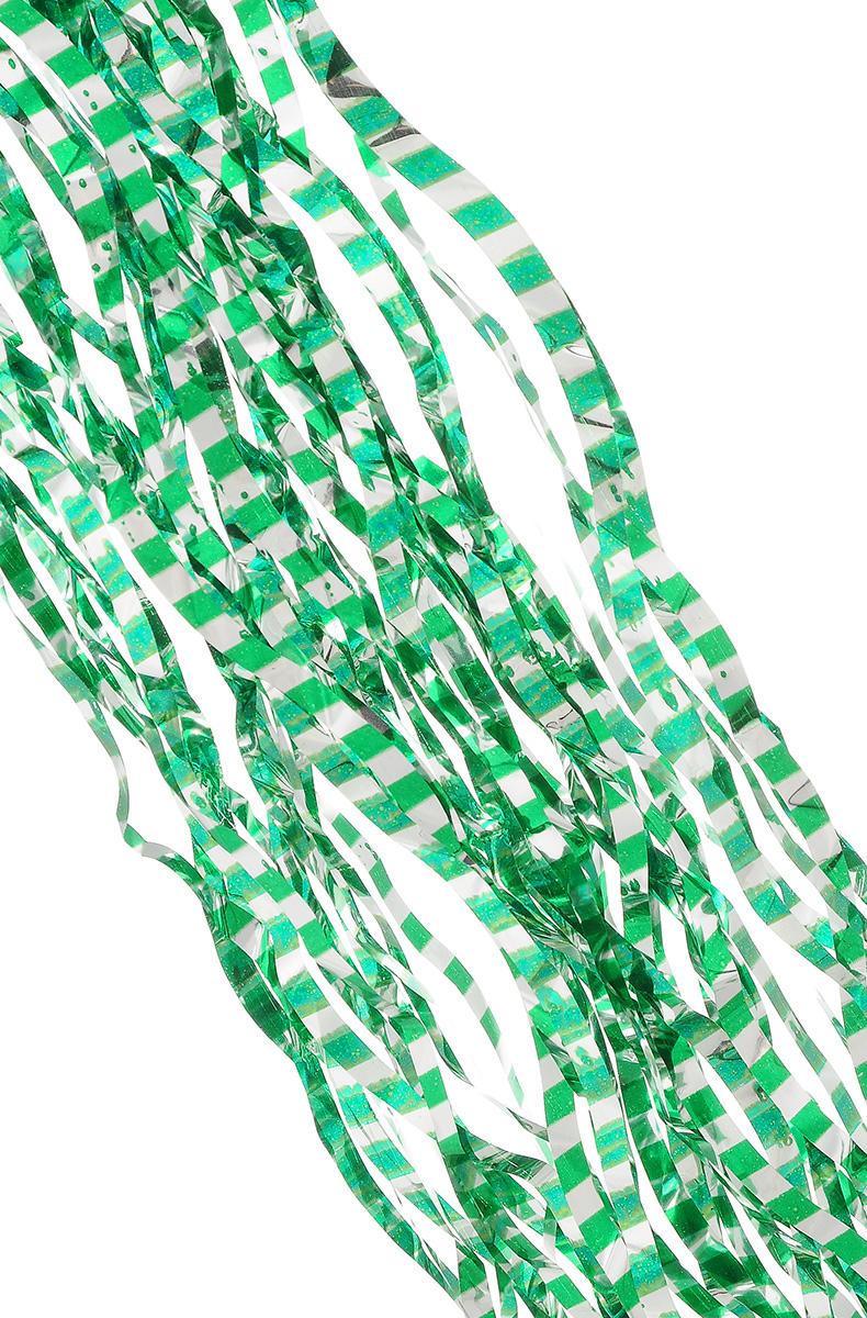 Дождик новогодний Sima-land, цвет: серебристый, зеленый, 14 см х 100 см. 702537702537_зеленыйДождик новогодний Sima-land, изготовленный из фольги, поможет вам украсить свой дом к предстоящим праздникам. Новогодняя елка с таким украшением станет еще наряднее. Новогодним дождиком можно украсить все, что угодно - елку, квартиру, дачу, офис - как внутри, так и снаружи. Можно сложить новогодние поздравления, буквы и цифры, дождиком можно украсить и дополнить гирлянды, можно выделить дверные колонны, оплести дверные проемы. Ширина: 14 см.