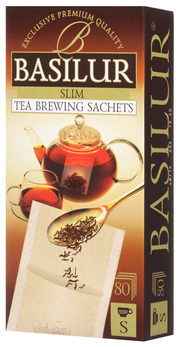 Basilur одноразовый фильтр-пакет для заваривания листового чая (размер S), 80 шт