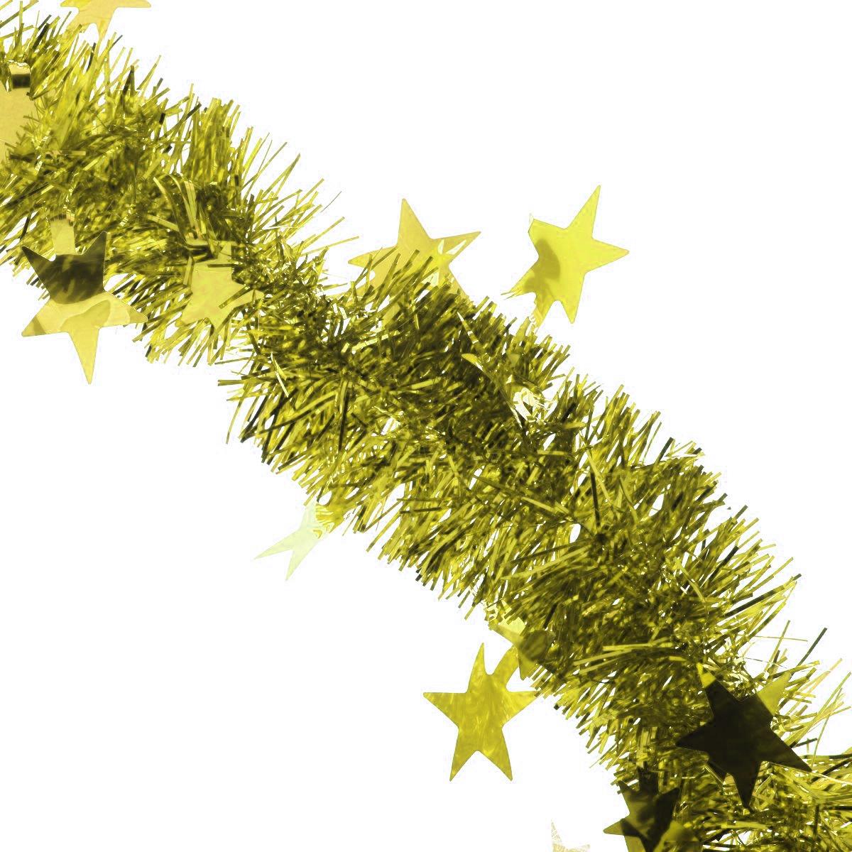 Мишура новогодняя Sima-land, цвет: золотистый, диаметр 5 см, длина 200 см. 702609702609_золотистыйМишура новогодняя Sima-land, выполненная из фольги, поможет вам украсить свой дом к предстоящим праздникам. Мишура армирована, то есть имеет проволоку внутри и способна сохранять приданную ей форму. Новогодняя елка с таким украшением станет еще наряднее. Новогодней мишурой можно украсить все, что угодно - елку, квартиру, дачу, офис - как внутри, так и снаружи. Можно сложить новогодние поздравления, буквы и цифры, мишурой можно украсить и дополнить гирлянды, можно выделить дверные колонны, оплести дверные проемы. Коллекция декоративных украшений из серии Зимнее волшебство принесет в ваш дом ни с чем несравнимое ощущение праздника! Создайте в своем доме атмосферу тепла, веселья и радости, украшая его всей семьей.