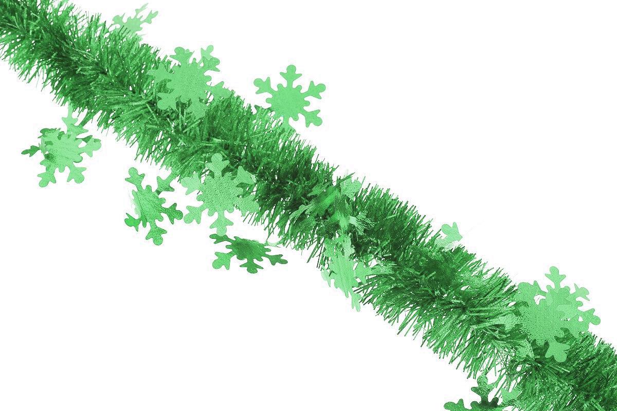 Мишура новогодняя Sima-land, цвет: зеленый, диаметр 5 см, длина 200 см. 702632702632_зеленыйНовогодняя мишура Sima-land, выполненная из фольги с дизайном в виде снежинок, поможет вам украсить свой дом к предстоящим праздникам. А новогодняя елка с таким украшением станет еще наряднее. Мишура армирована, то есть имеет проволоку внутри и способна сохранять приданную ей форму. Новогодней мишурой можно украсить все, что угодно - елку, квартиру, дачу, офис - как внутри, так и снаружи. Можно сложить новогодние поздравления, буквы и цифры, мишурой можно украсить и дополнить гирлянды, можно выделить дверные колонны, оплести дверные проемы. Коллекция декоративных украшений из серии Зимнее волшебство принесет в ваш дом ни с чем несравнимое ощущение праздника! Создайте в своем доме атмосферу тепла, веселья и радости, украшая его всей семьей.