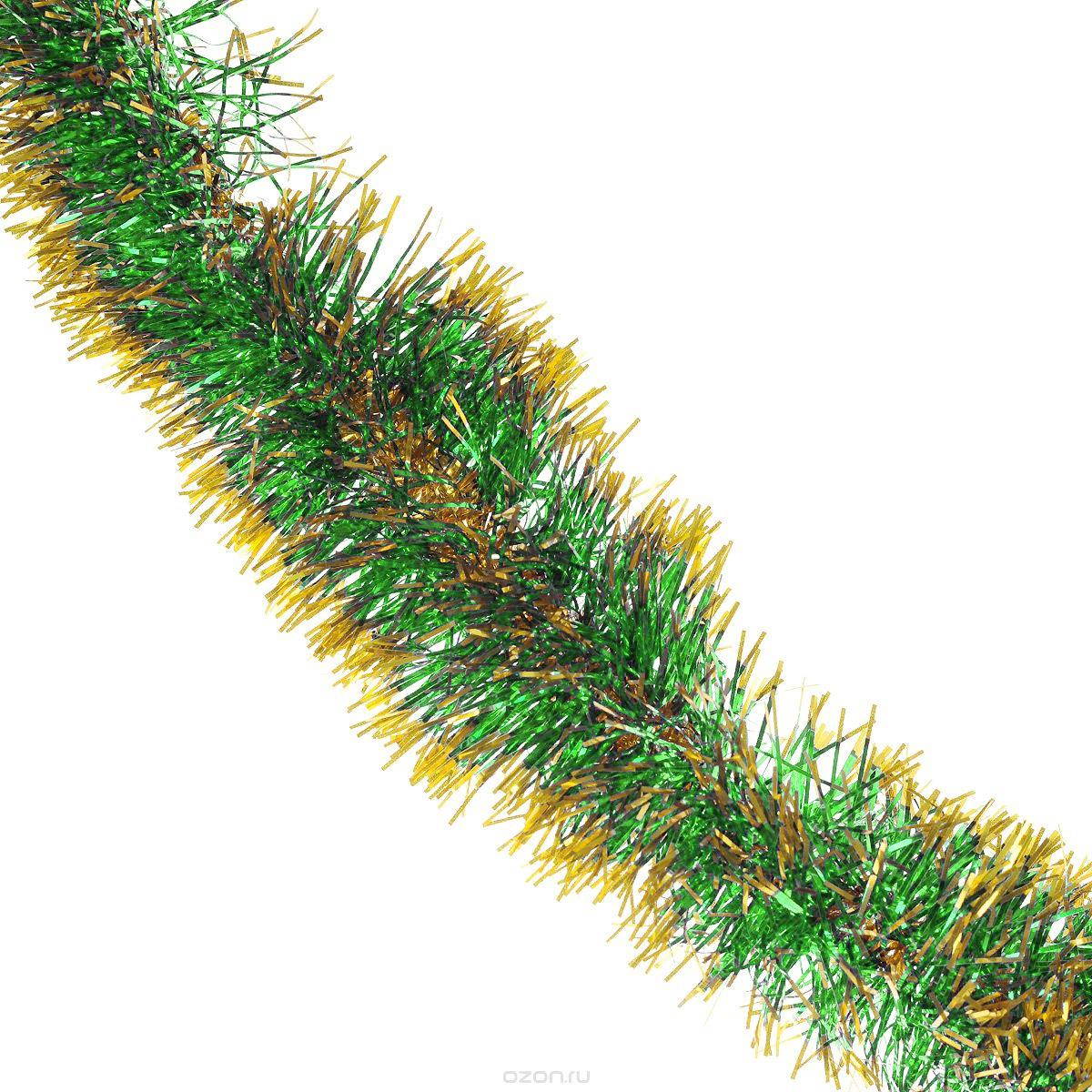 Мишура новогодняя Sima-land, цвет: зеленый, золотистый, диаметр 8 см, длина 200 см. 702630702630_зеленый, золотистыйНовогодняя мишура Sima-land, выполненная из двухцветной фольги, поможет вам украсить свой дом к предстоящим праздникам. А новогодняя елка с таким украшением станет еще наряднее. Мишура армирована, то есть имеет проволоку внутри и способна сохранять придаваемую ей форму. Новогодней мишурой можно украсить все, что угодно - елку, квартиру, дачу, офис - как внутри, так и снаружи. Можно сложить новогодние поздравления, буквы и цифры, мишурой можно украсить и дополнить гирлянды, можно выделить дверные колонны, оплести дверные проемы.