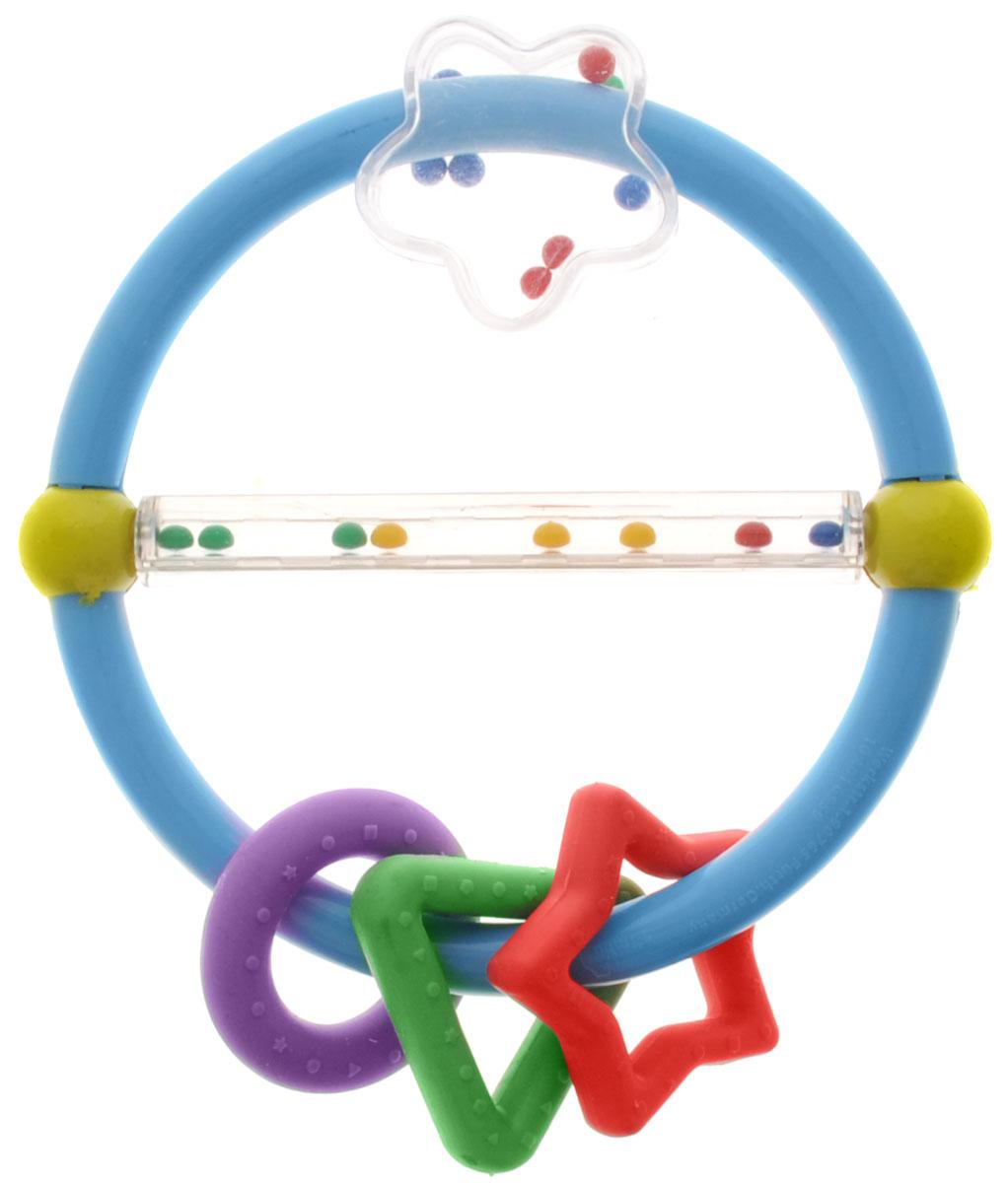 Simba Погремушка с подвесками цвет голубой4016959_голубойПогремушка-прорезыватель привлечет внимание вашего ребенка и надолго останется его любимой игрушкой. Детская погремушка предназначена для детей в возрасте от трех месяцев. Погремушка выполнена в виде кольца, на котором подвешены резиновые фигуры в виде звездочки, кружка и треугольника и прозрачный цветочек. Погремушка разделена прозрачной трубкой с перекатывающимися там цветными шариками. Погремушка выполнена из высококачественного безопасного пластика, поэтому малыш может использовать ее как прорезыватель. В игровой форме малыш ознакомится с такими понятиями, как звук, цвет и форма предмета.